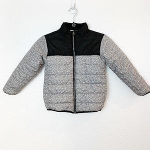 Boy's Winter Coat Gray Black SZ5